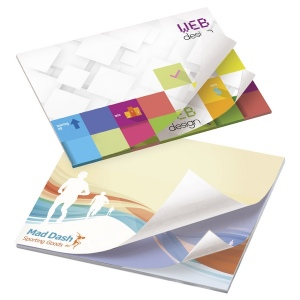 Bloc notes adh�sifs Alternating Sheet Imprint 101 x 75 Bic - 25 feuilles publicitaire